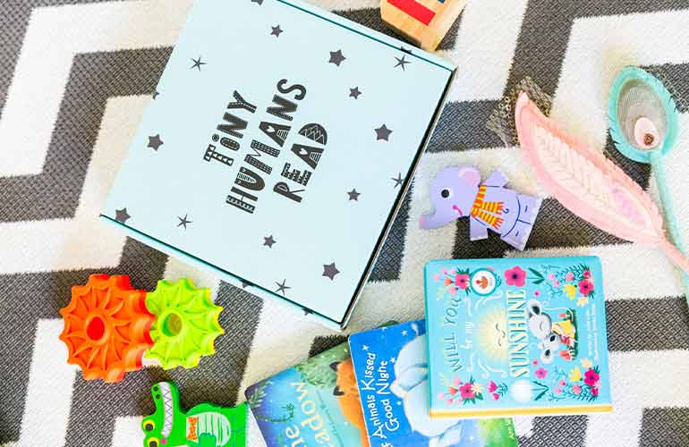 Tiny Humans Read Book Subscription Box For Kids