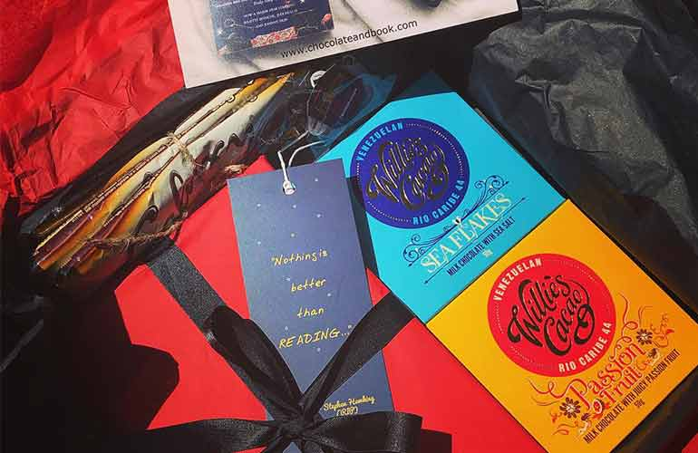 Chocolate and Book Chocolate Subscription Box