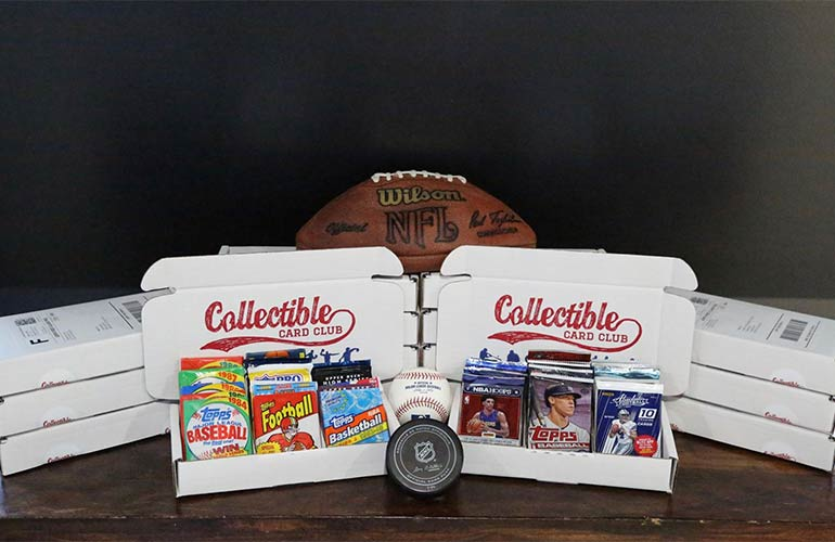 Collective Card Club Subscription Box For Basketball Sports Fans