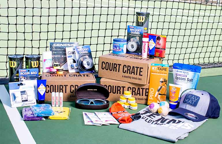 Court Crate Subscription Box For Tennis Players