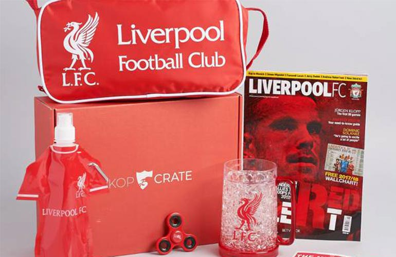 KopCrate Liverpool Football Subscription Box For Sports Fans