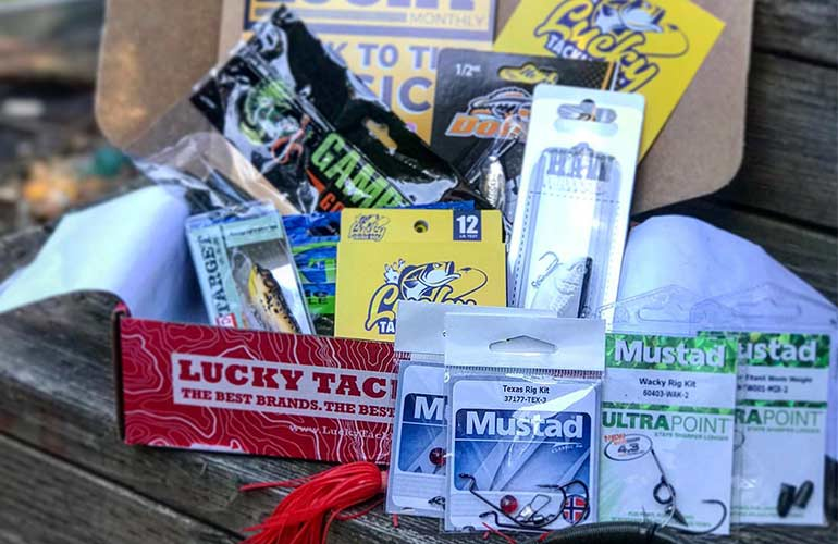 Lucky Tackle Box Fishing Subscription Box For Sports Fans