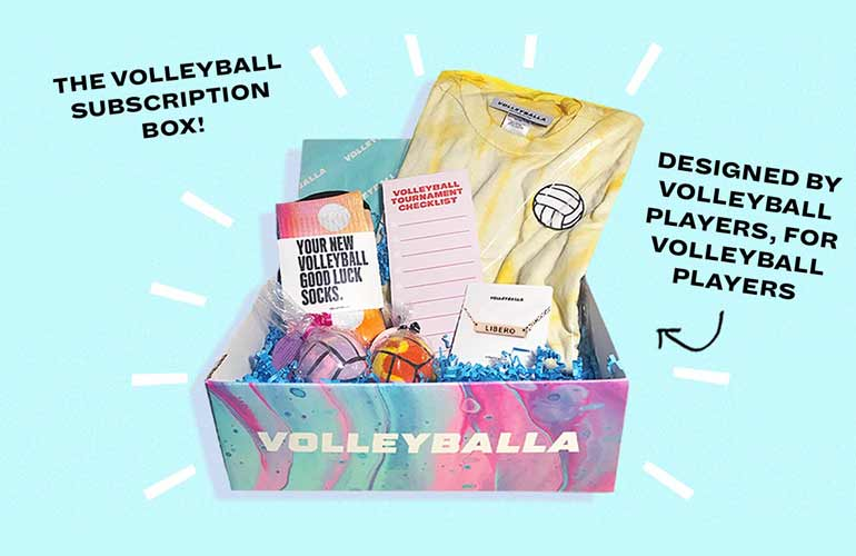 Volleyballa Subscription Box For Volleyball Players and Sports Fans